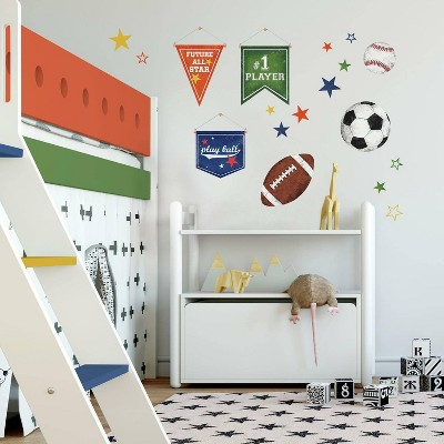 Sports Balls Peel and Stick Wall Decal - RoomMates
