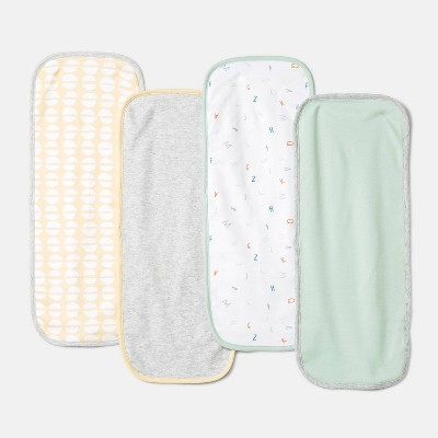 Baby Boys' 4pk 'ABC' Burp Cloth - Cloud Island™ Mint