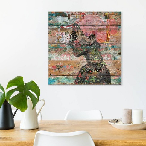 """26""""x26"""" Inner Nature (Profile Of Woman) by Diego Tirigall Unframed Wall Canvas Print Antique Wood - iCanvas - image 1 of 2"""