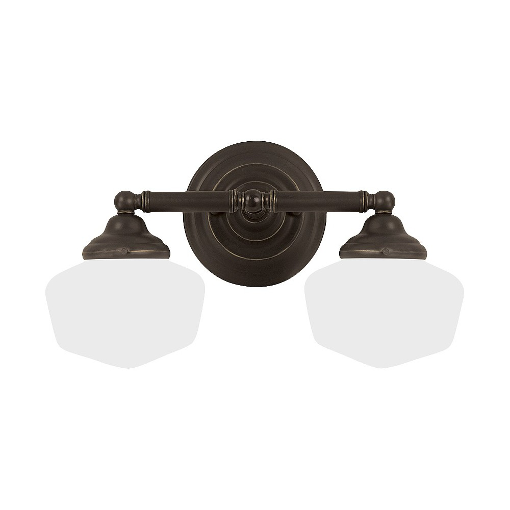 Image of Sea Gull Lighting Academy Two Light Bath Sconce - Heirloom Bronze