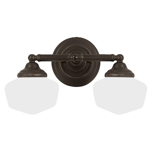 Sea Gull Lighting Academy Two Light Bath Sconce - Heirloom Bronze - image 1 of 2