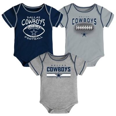 NFL Dallas Cowboys Baby Boys' Bodysuits 3pk - 6-9M
