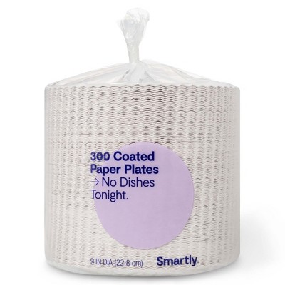 Coated Paper Plates - 9 - 300ct - Smartly™