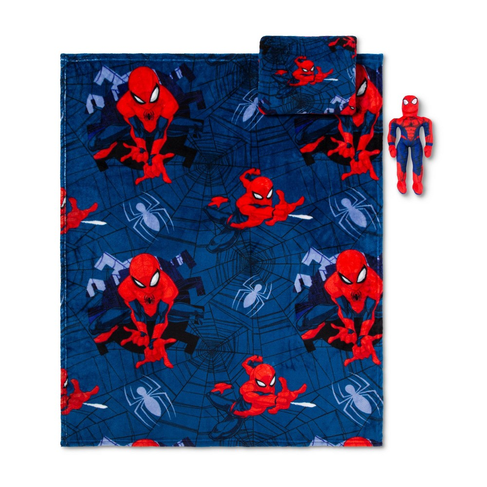 Image of Marvel Spider-Man Throw and Pillow Set