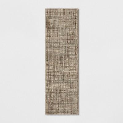 "2'4""X7' Woven Thin Stripe Runner Rug Beige - Project 62™"