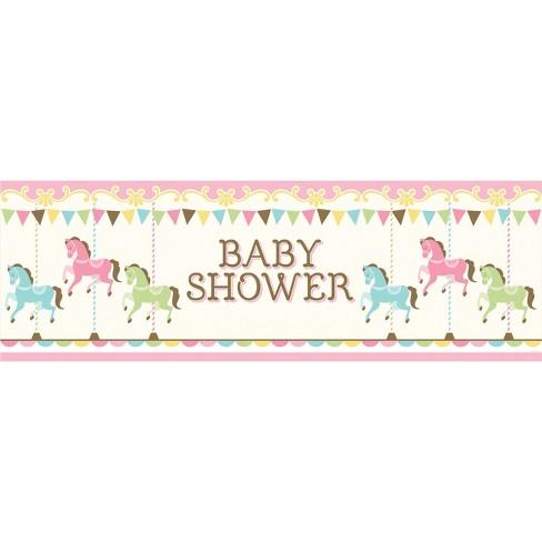 Unicorn Carousel Giant Baby Shower Banner Target