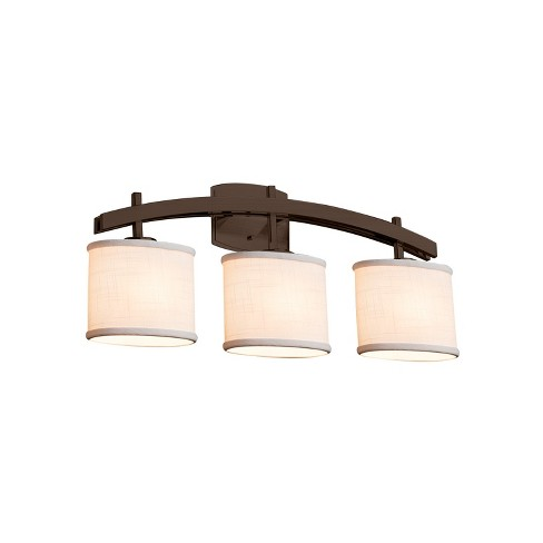 "Justice Design Group FAB-8593-30-CREM-LED3-2100 Textile 25.5"" Archway 3 Light LED Bath Bar - image 1 of 4"