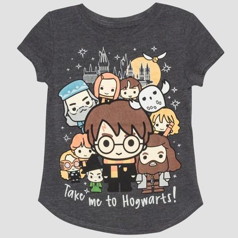 01b018a9 Toddler Girls' Harry Potter Short Sleeve T-Shirt - Gray 3T : Target