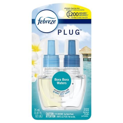 Febreze Plug Odor-Eliminating Air Freshener Scented Oil Refill - Bora Bora Waters - 1ct - image 1 of 4