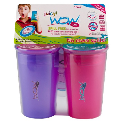WOW Cup Sippy Cup Pink Purple - image 1 of 3
