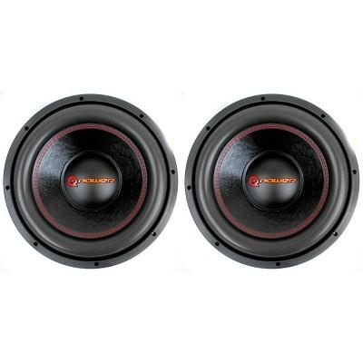 Q Power 12 Inch 3000 Watt Super Deluxe Subwoofers DVC Car Audio Sub | QP12-Super