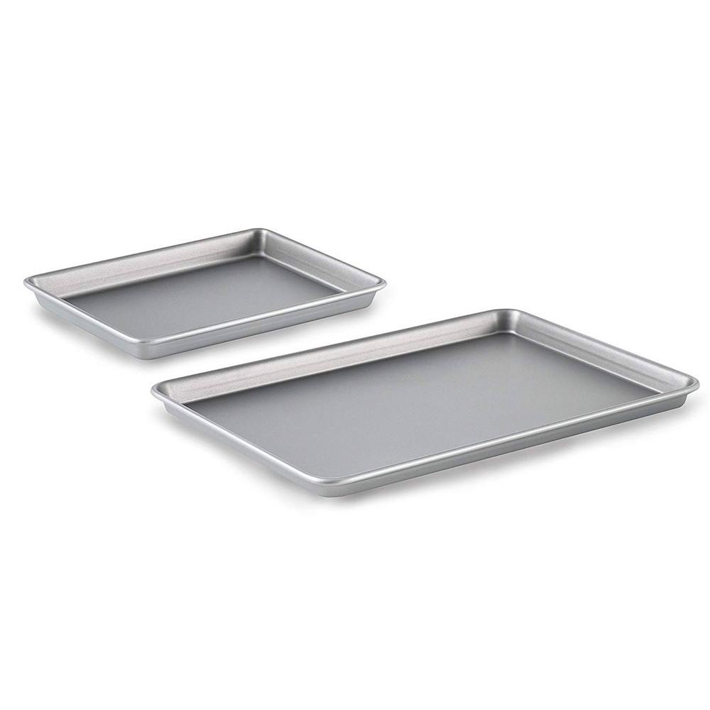 Image of Calphalon Nonstick 2pc Brownie Pan & Baking Sheet Set, Gray