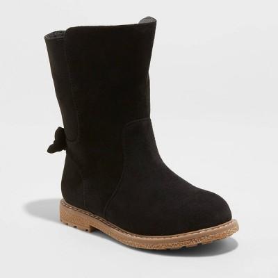 Toddler Girls' Hyla Riding Boots - Cat & Jack™ Black