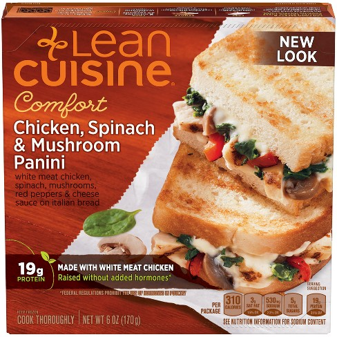Lean Cuisine Casual Cuisine Chicken Spinach & Mushroom Frozen Panini - 6oz - image 1 of 3