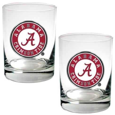 NCAA Alabama Crimson Tide 15oz Rock Glass Set 2pk - image 1 of 1