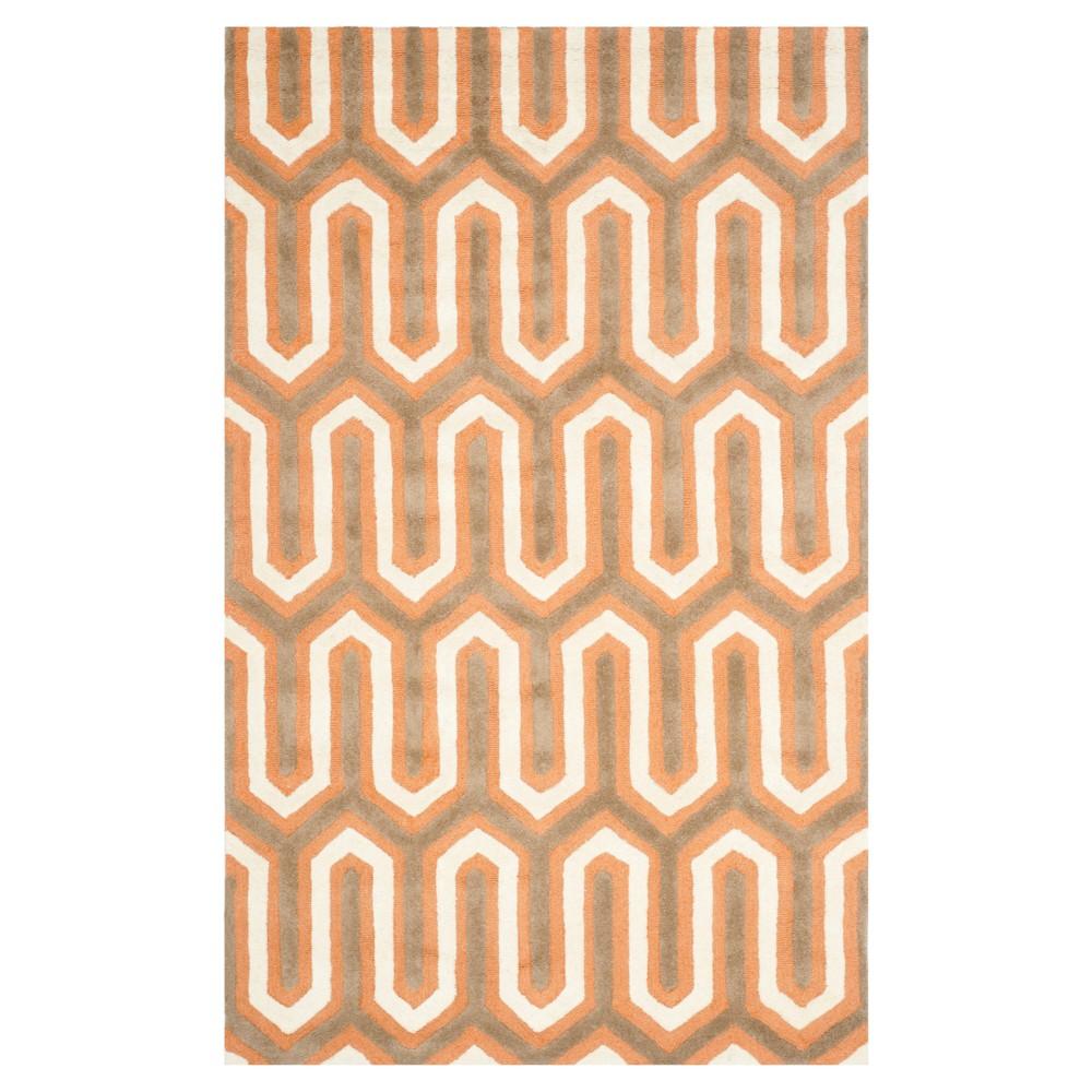 Aveline Textured Rug - Orange/Gray (5' X 8') - Safavieh