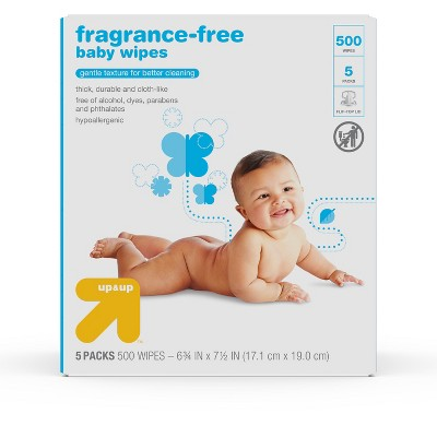 Fragrance Free Baby Wipes - 500ct - Up&Up™