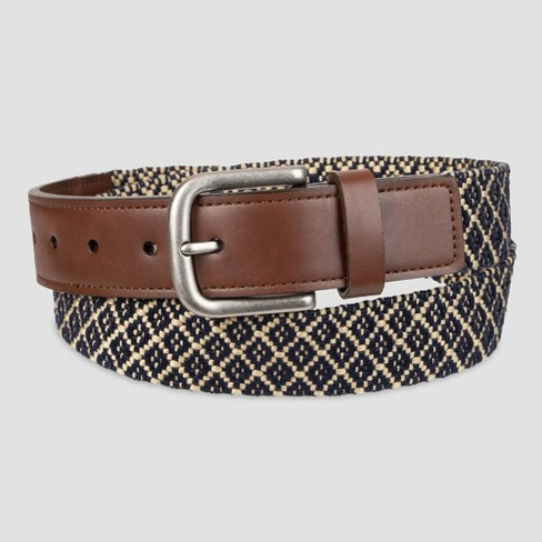 Men's 35mm Web With Tabs Belt - Goodfellow & Co™ Navy - image 1 of 3