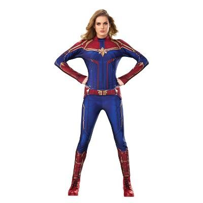 Kids' Captain Marvel Deluxe Halloween Costume - 8-10