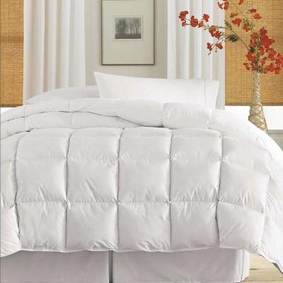 Blue Ridge Deluxe Cotton Twill Cover Down Alternative Soft Cozy Comforter, 233 Thread Count - White