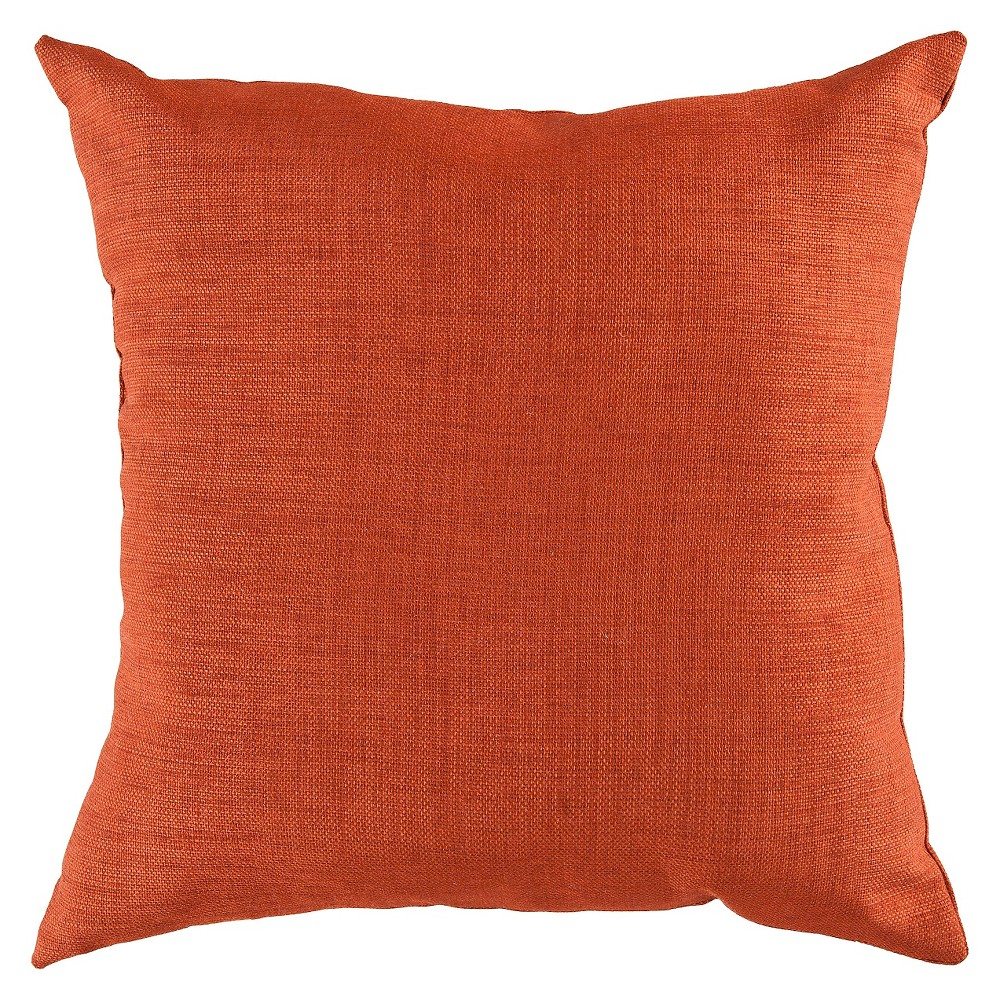 Rust (Red) Strahlhorn Solid Throw Pillow 22