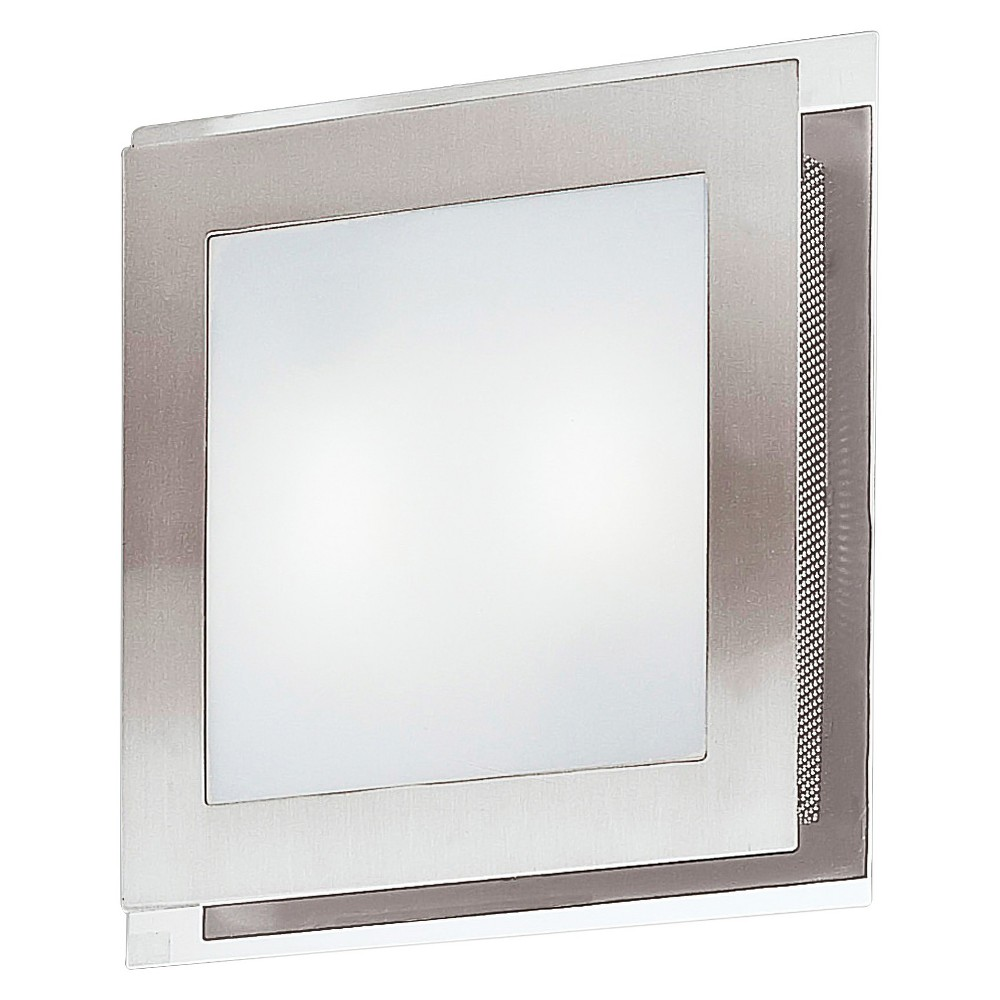 Eos Wall/Ceiling Light 11.75 Matte Nickel & Chrome - Eglo, Brushed Nickel