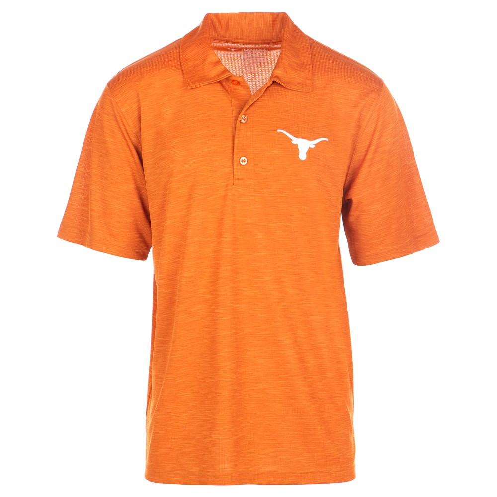 Texas Longhorns Men's Short Sleeve Textured Polo Shirt - Orange - M