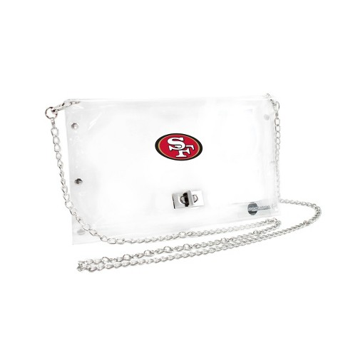 NFL San Francisco 49ers Clear Envelope Purse - image 1 of 1