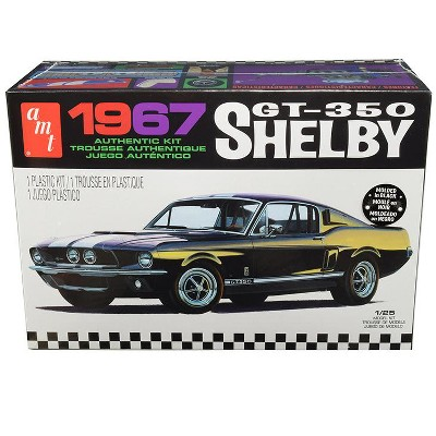 Skill 2 Model Kit 1967 Ford Mustang Shelby GT350 Black 1/25 Scale Model by AMT
