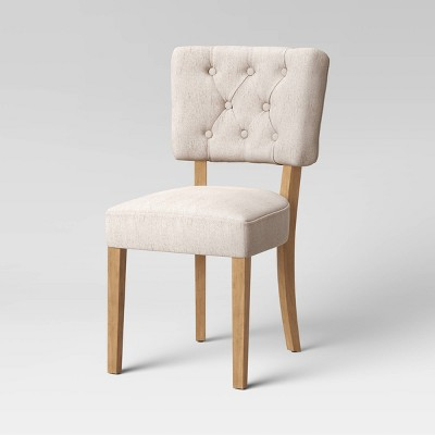 Fremont Tufted Open Back Dining Chair Linen - Threshold™