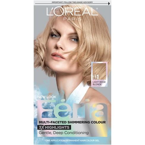 New Feria Fashion Metallics Hair Color Rose Gold