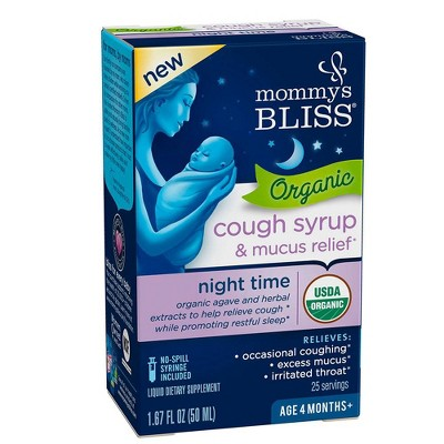 Mommy's Bliss Baby Organic Nighttime Cough & Mucus Relief Liquid - 1.67 fl oz