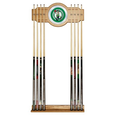 NBA Boston Celtics Billiard Cue Rack with Mirror