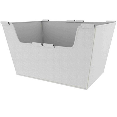 Rev-A-Shelf CBLSL-181410-T-1 18 Inch Wide by 10 Inch Height Washable Canvas Cloth Sidelines Closet Basket Liner with Velcro Tabs, Tan