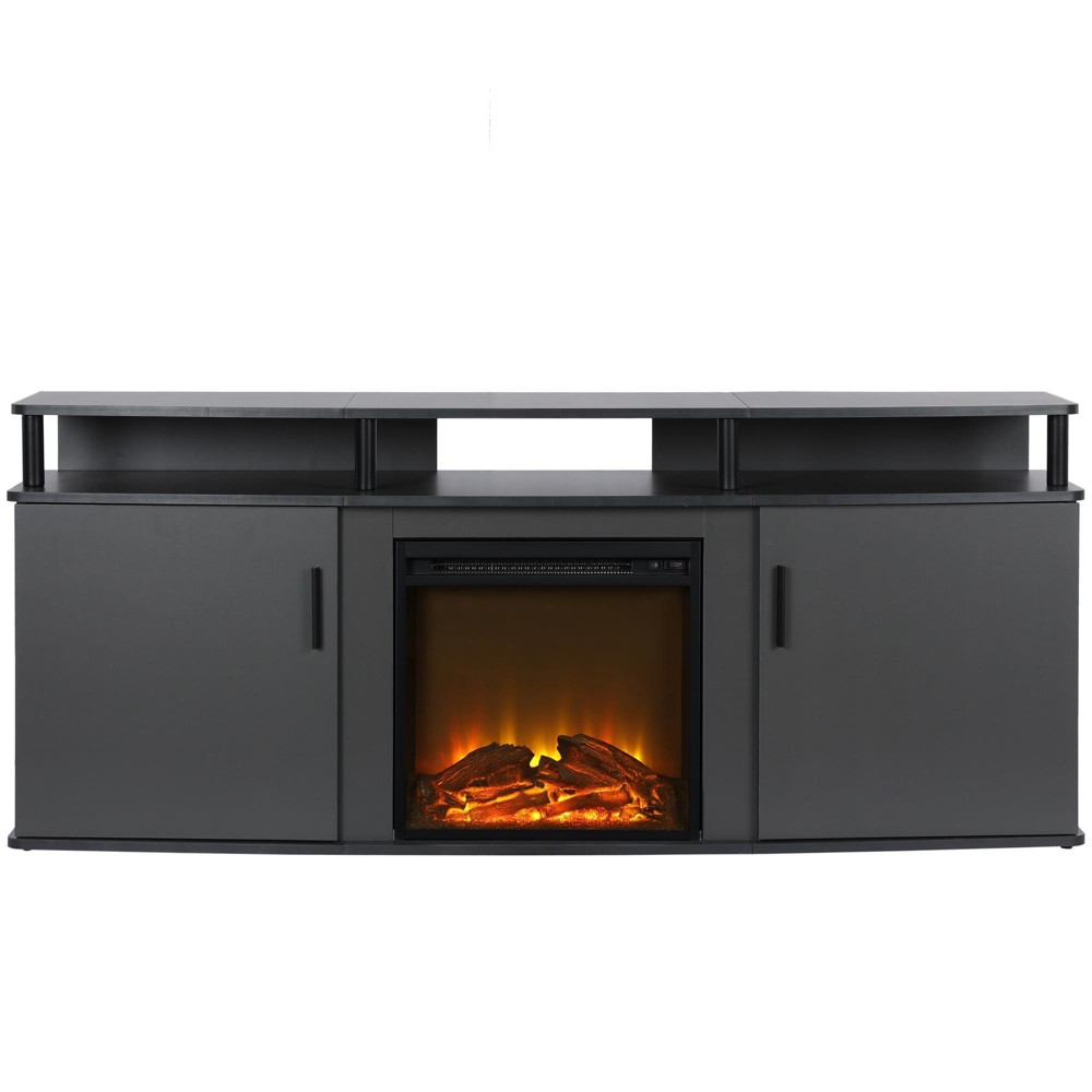 Room & Joy Kimmel Electric Fireplace TV Console For TV's Up To 70 Gray