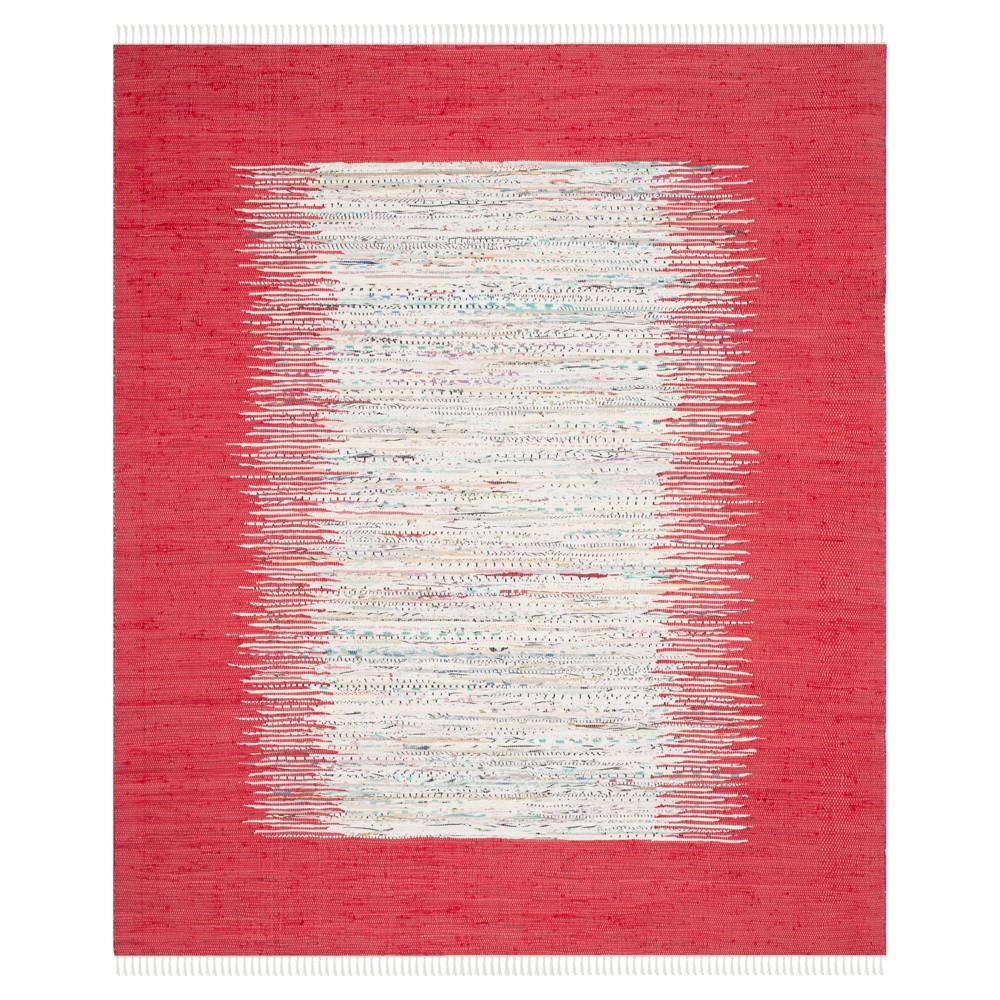 Bettina Flatweave Area Rug - Ivory / Red (8' X 10') - Safavieh