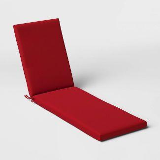Woven Outdoor Chaise Cushion DuraSeason Fabric™ Red - Threshold™