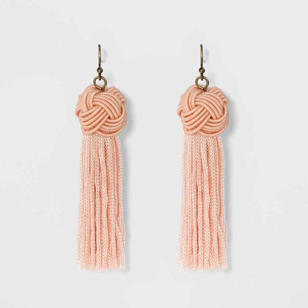 Sugarfix by BaubleBar Tassel Drop Earrings with Knot - Light Pink, Girl's
