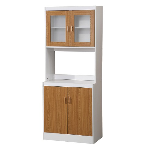 Traditional Kitchen Cabinet - White/Oak - Home Source Industries - image 1 of 3