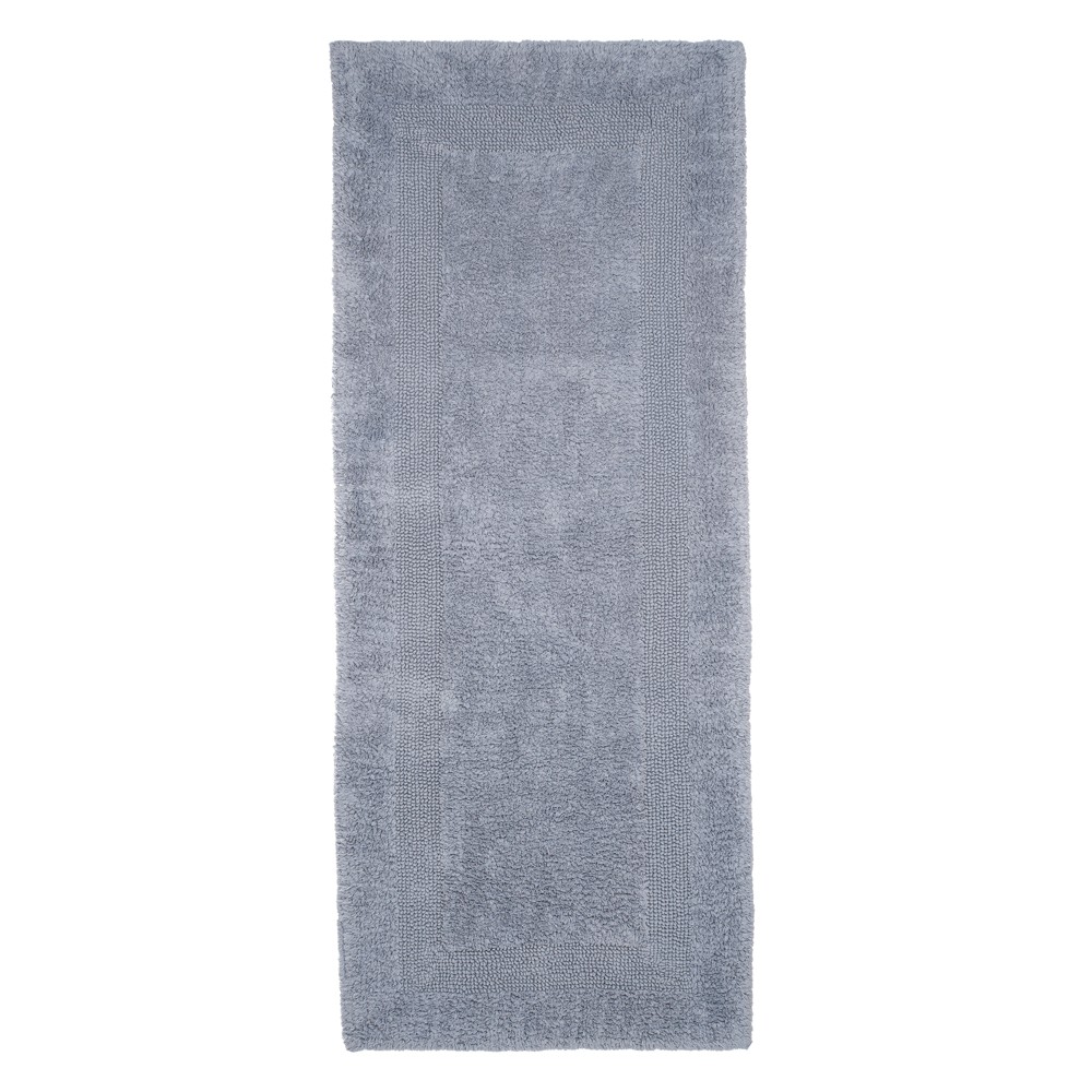 Solid Reversible Long Bath Rug Silver - Yorkshire Home