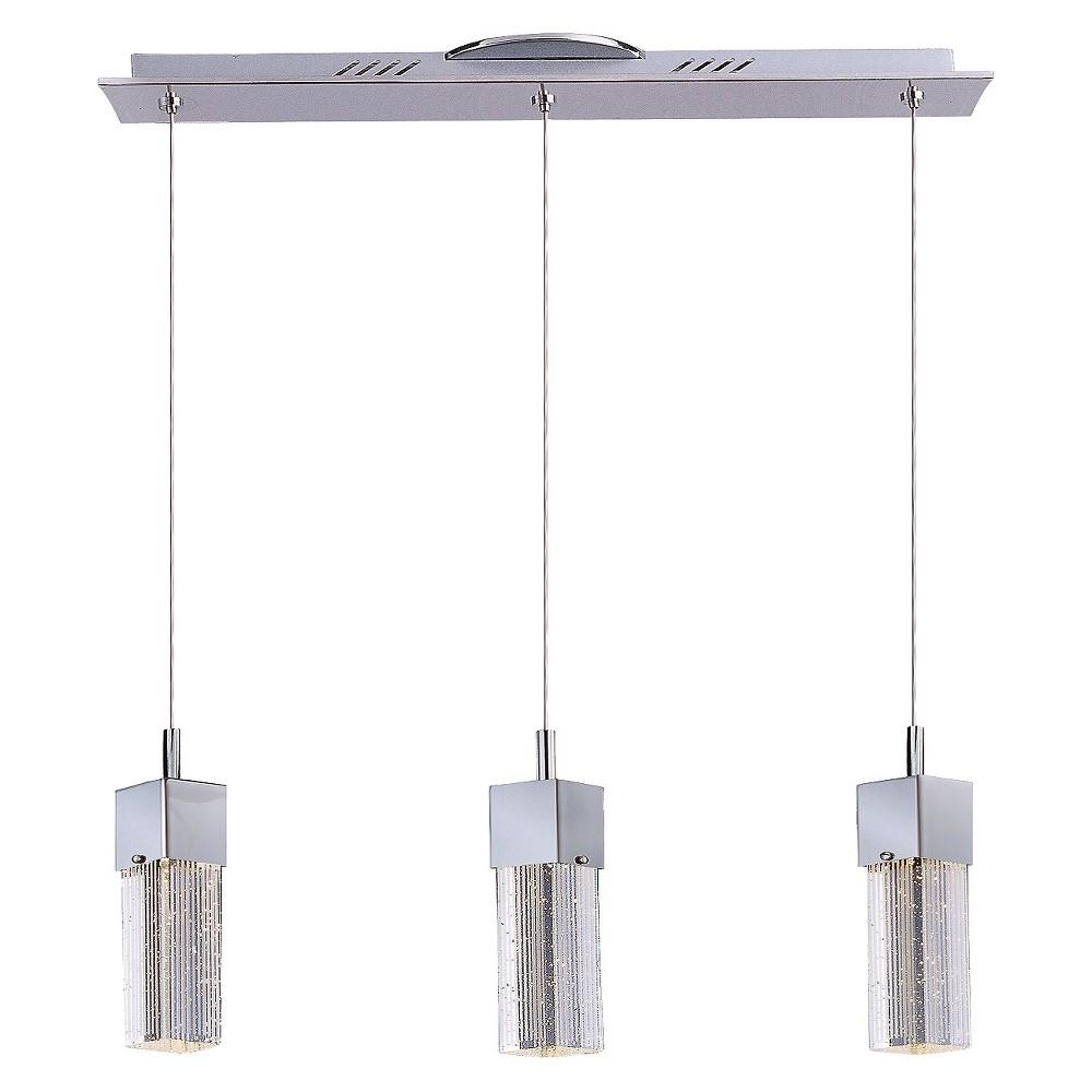 Image of ET2 Lighting Fizz Iii 3-Light Led Pendant, Silver