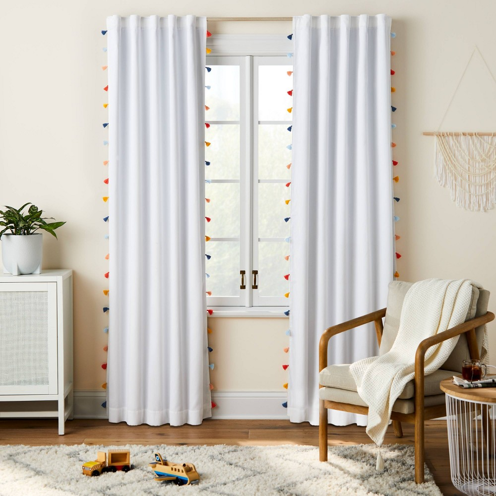 95 34 Blackout Tassel Curtain Panel Pillowfort 8482