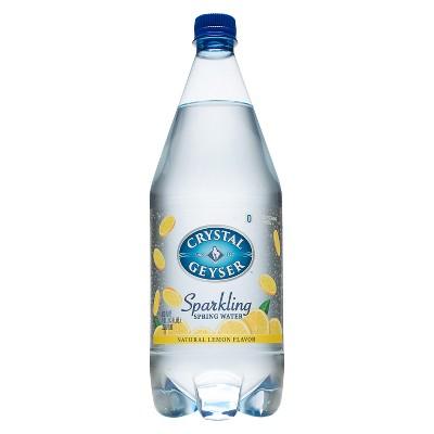 Crystal Geyser Lemon Sparkling Water - 42.3 fl oz Bottle
