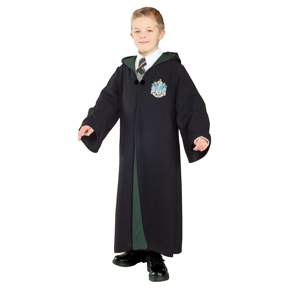 Harry Potter Deluxe Slytherin Robe Kids' Costume L(12-14), Kids Unisex, Black
