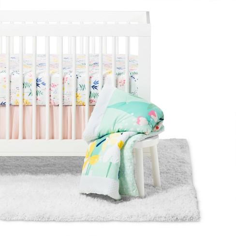Crib Bedding Set Wildflower 3pc - Cloud Island™ Floral - image 1 of 5