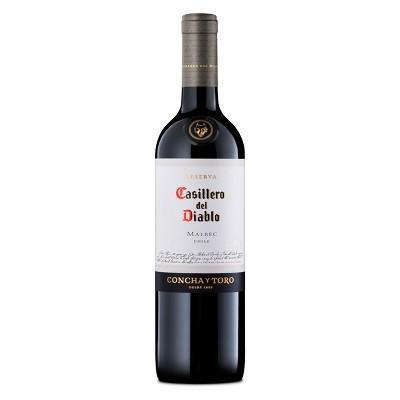 Casillero Del Diablo Malbec Red Wine - 750ml Bottle