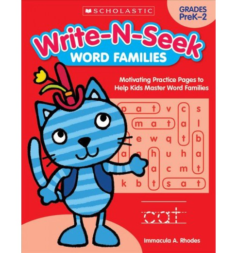 Word Families : Motivating Practice Pages to Help Kids Master Word Families, Grades PreK-2 (Paperback) - image 1 of 1