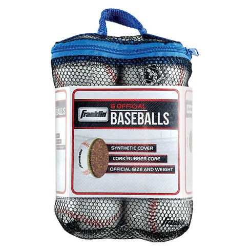 Franklin Sports Practice Baseballs - White (6 Pack) - image 1 of 3