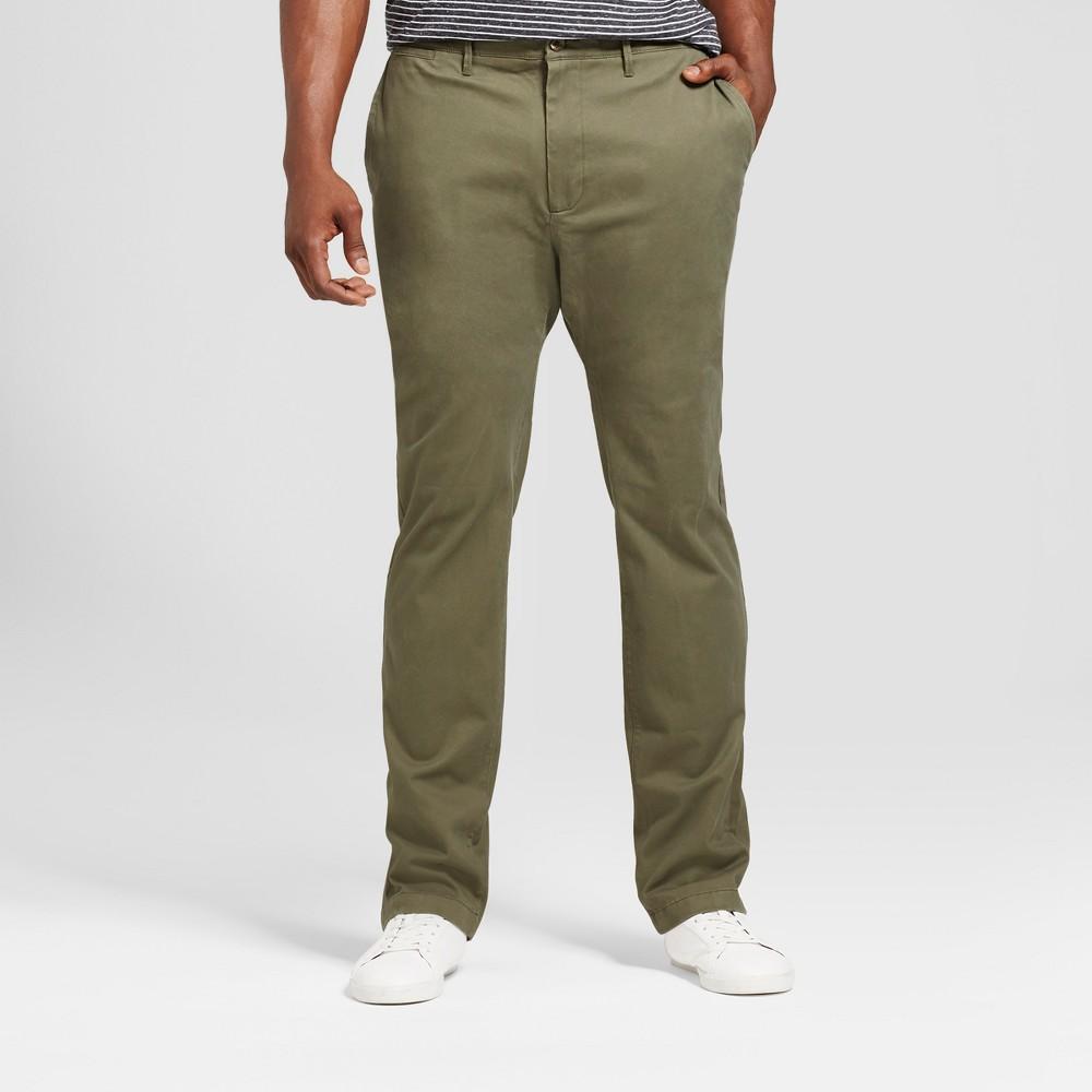 Men's Big & Tall Slim Fit Hennepin Chino Pants - Goodfellow & Co Olive (Green) 48X30