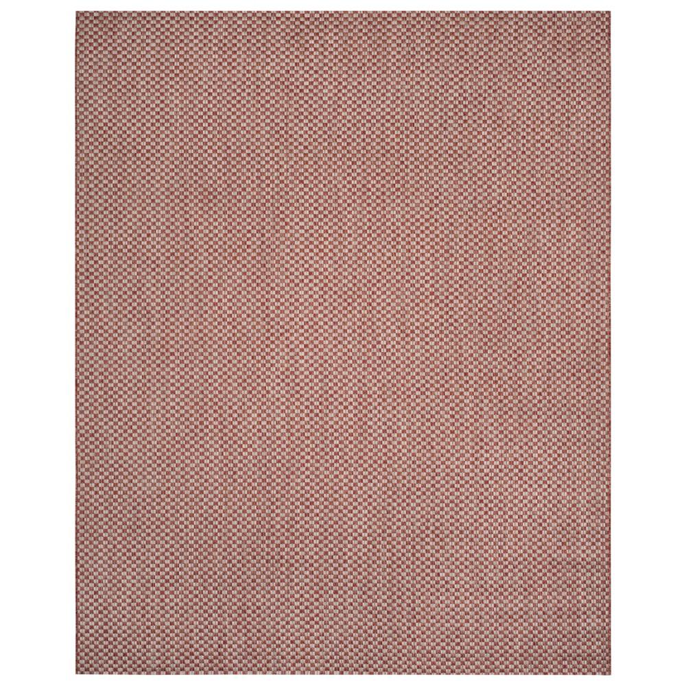 8' x 11' Tabatha Indoor/Outdoor Rug Rust (Red)/Light Gray - Safavieh
